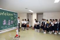 学校内見学(体育館