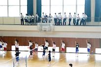 学校内見学(体育館)