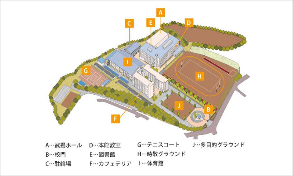 キャンパスマップ図